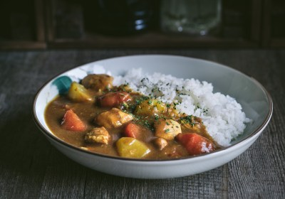 Curry japonés con pollo
