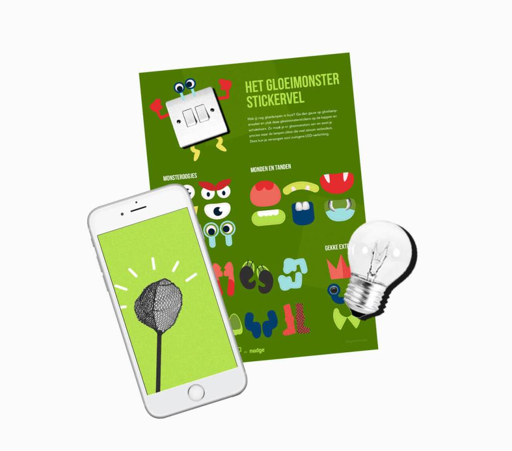 Gloeimonsters illustratie app