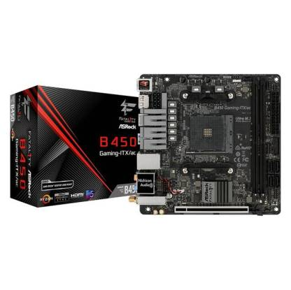 ASRock Fatal1ty B450 GAMING-ITX/AC Socket AM4/ AMD B450/ DDR4/  SATA3&USB3 1/ M 2/ WiFi/ A&GbE/ Mini-ITX Motherboard