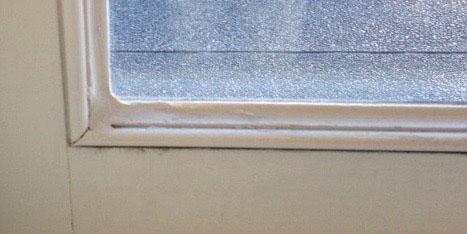Window glazing problems - improper seal