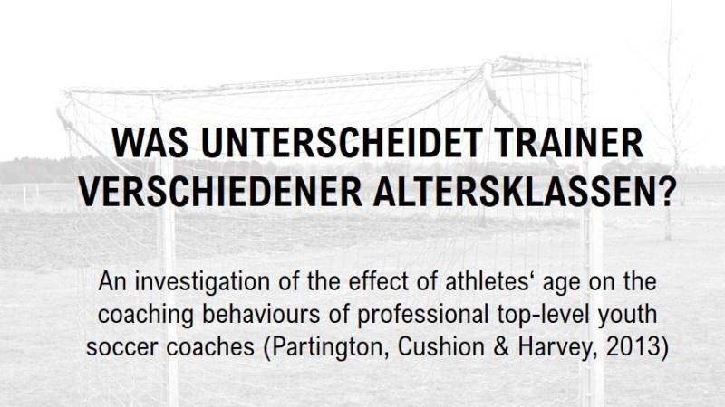 Was unterscheidet Trainer verschiedener Altersklassen?