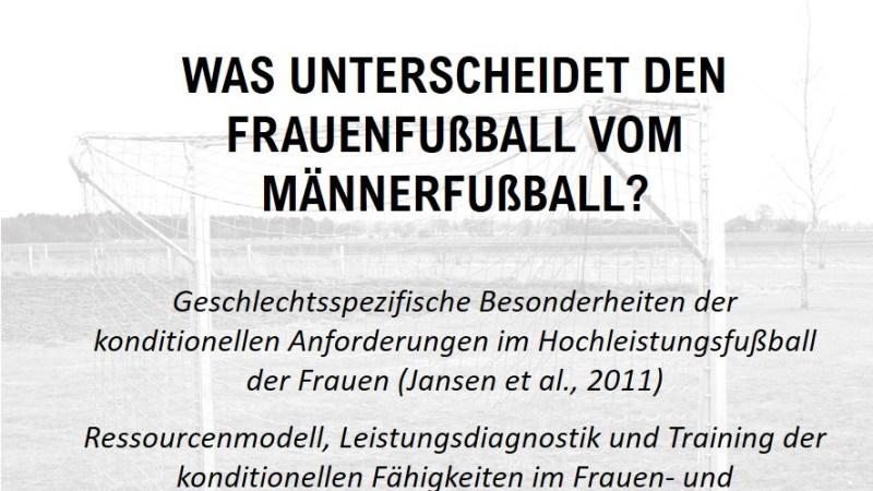 Was unterscheidet den Frauenfußball vom Männerfußball?