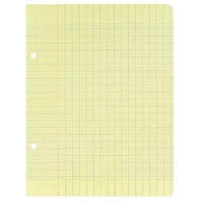 clairefontaine 7884 feuille mobile grand carreaux jaune 17x22 cm sachet de 50