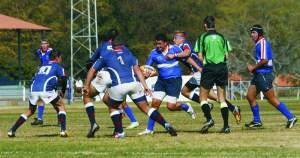 Die HFM 0/15A rugby span in aksie by die Beeldtrofee van Saterdag, 2 Augustus.