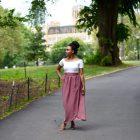 Walk Khalila-White Custom-Skirt Pink-Skirt