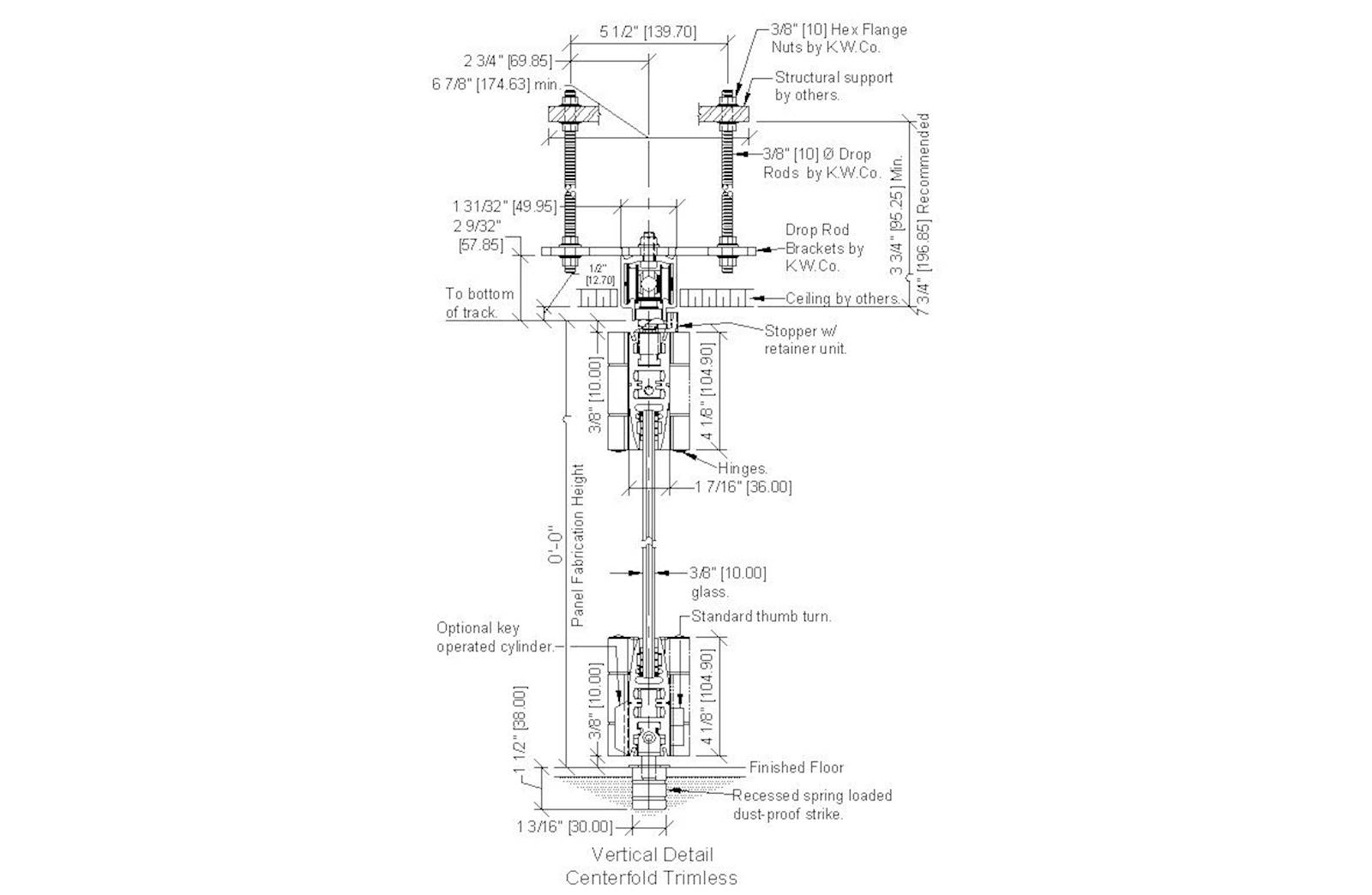 Cad Details Kwik Wall Model Centerfold Glass Wall Systems