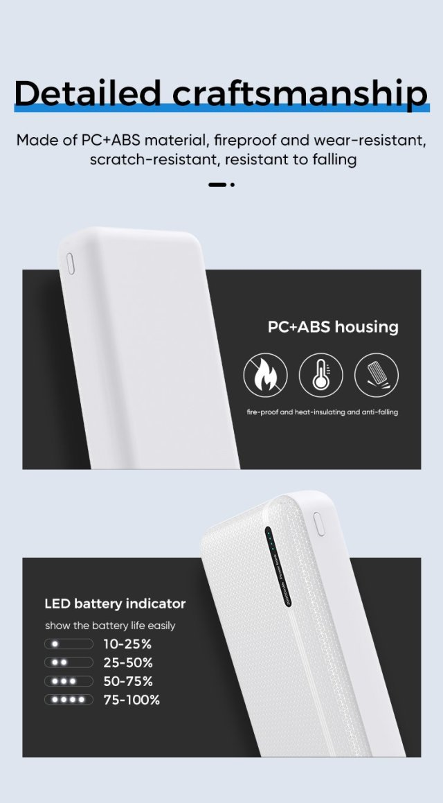 JOYROOM Portable Mobile Power Bank 20000mah