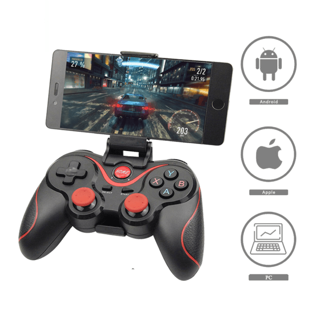 Wireless T3 Gamepad For PC | PS3 | Android | iOS Smartphone Tablet With Holder Game Controller