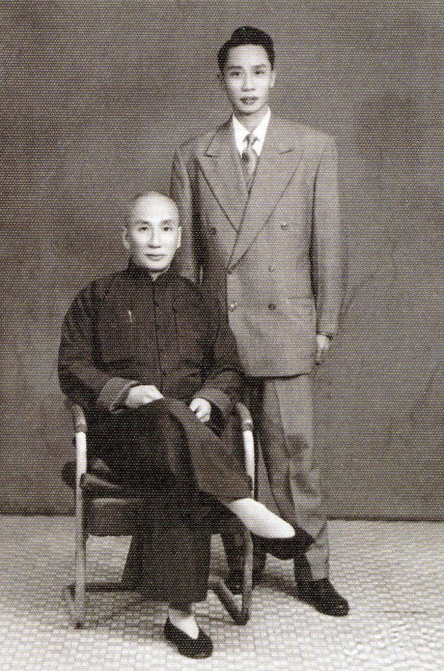 Ip Man and Ip Ching in the 1950's
