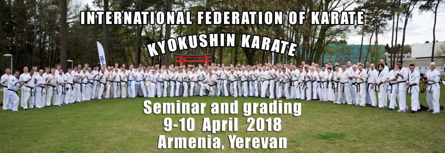 Armenian Kyokushin Karate Federation seminar and grading