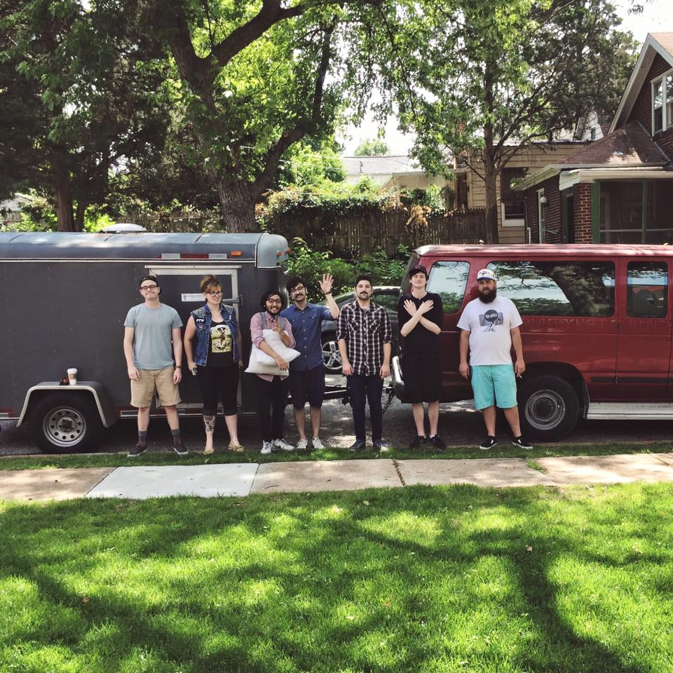 Foxing band and their van and trailer_147818