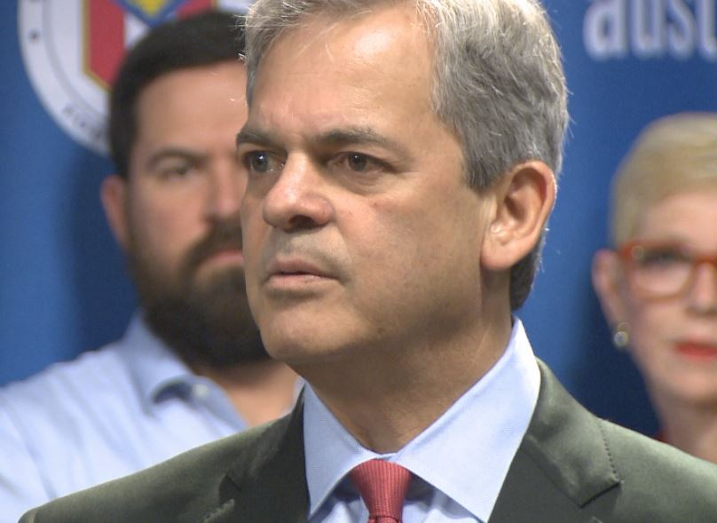 Mayor Steve Adler announcing Techhire_255726
