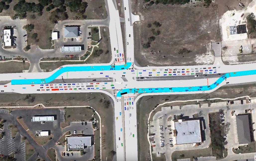 Continuous Flow intersection in Cedar Park_319316