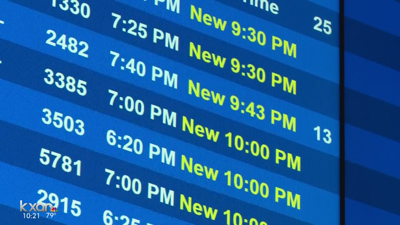 Dozens of flights diverted at Austin-Bergstrom airport