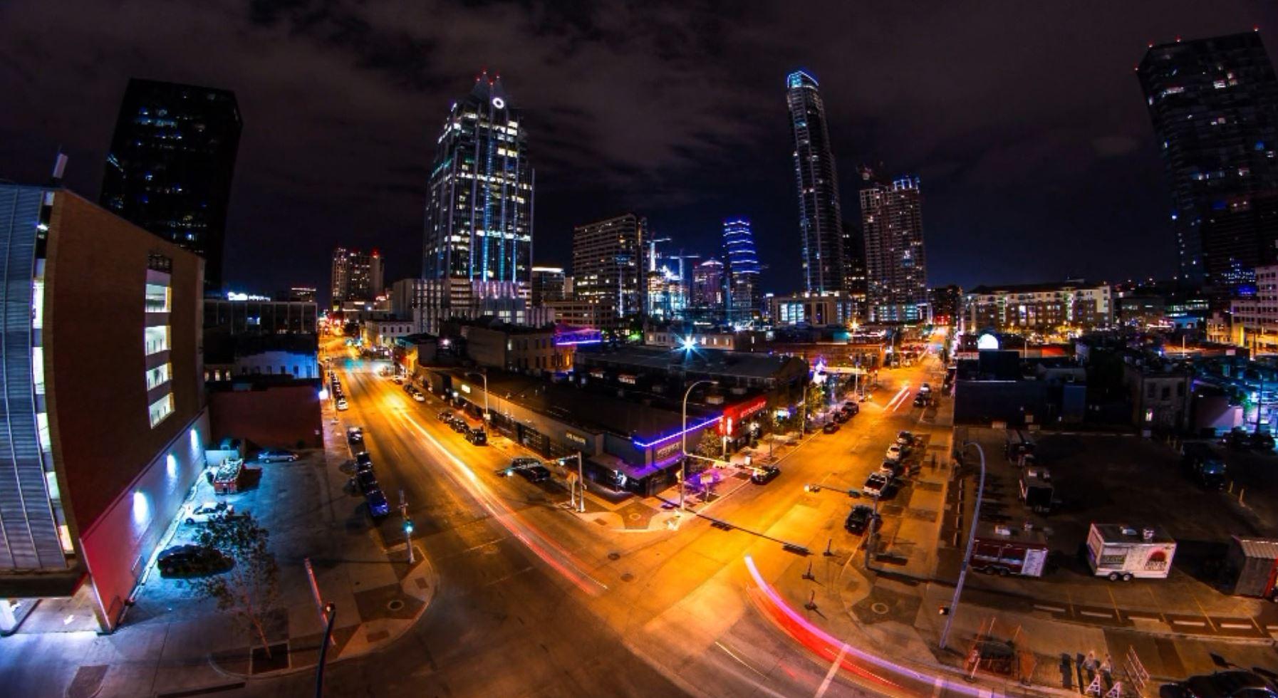Downtown Austin night timelapse_326042