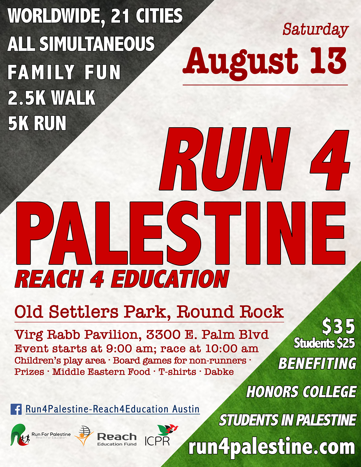 Run 4 Palestine will take place August 13, 2016 at Old Settlers Park._328498