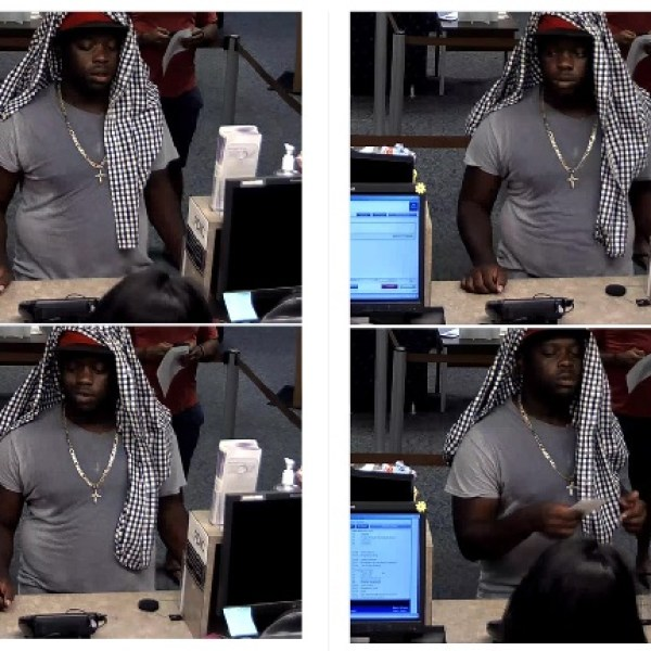 The suspect in a Wells Fargo bank robbery on South Congress Ave. on Aug. 31, 2016_342138