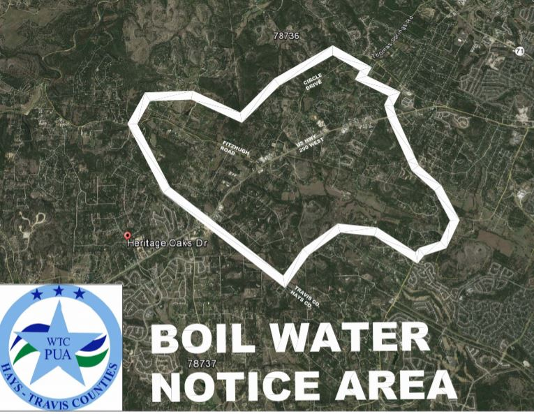 Boil water affected area issued by West Travis County PUA_366883