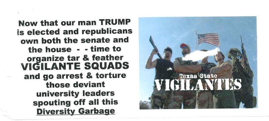 Flyer circulating around Texas State University_372984