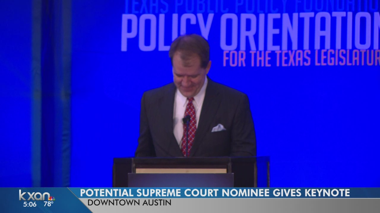 Texas Supreme Court Justice Don Willett gave a keynote address to the Texas Public Policy Foundation