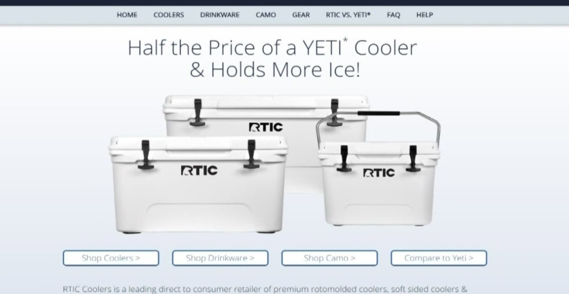 RTIC sued by YETI over similar products_408964