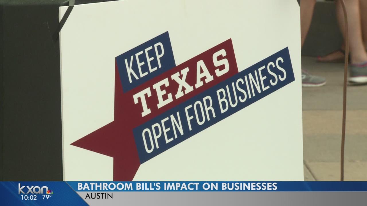 Bathroom bill's impact on Texas businesses