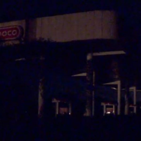 A Conoco station in Central Oklahoma out of power after an earthquake on Aug. 2, 2017_518783