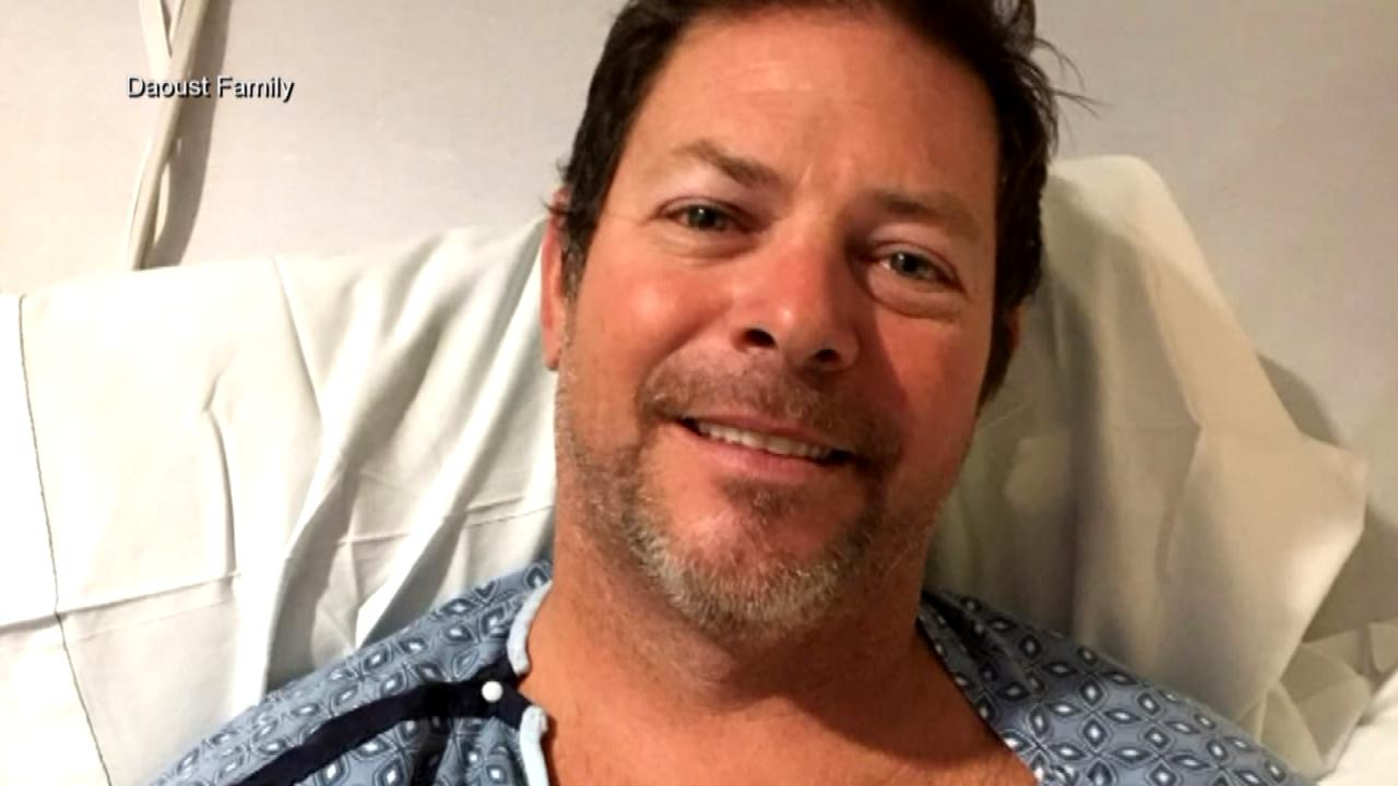 Photo of Chad Daoust in a Las Vegas hospital. He was one of more than 500 who were hurt when a gunman opened fire on a crowd at a country conce_555887
