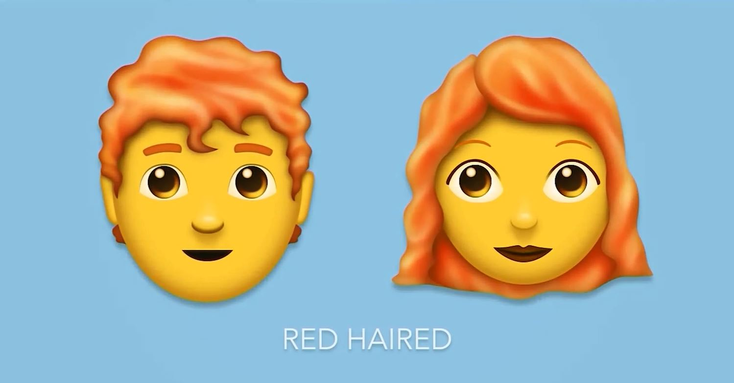 red haired emoji_632655