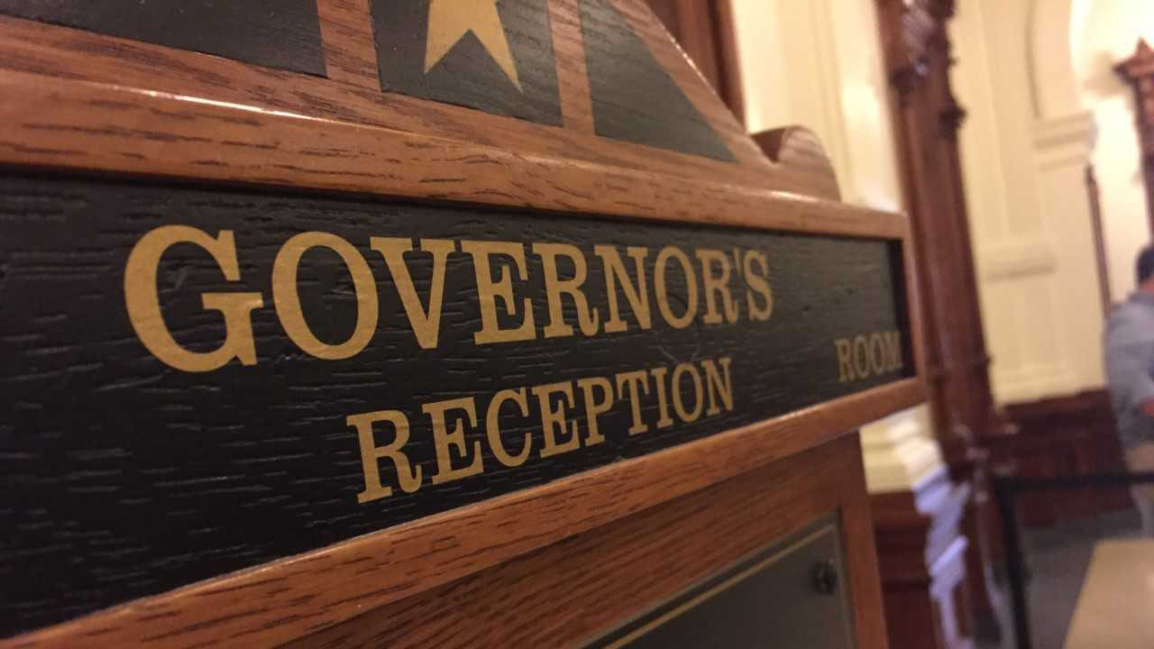 Texas governor's reception room