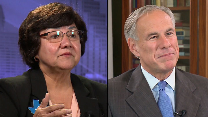 Lupe Valdez and Greg Abbott 720-54787063