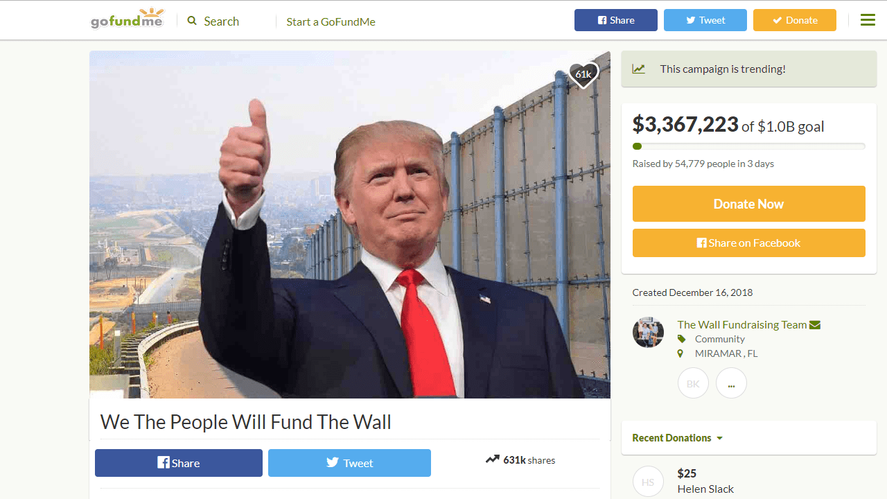 Build the wall campaign