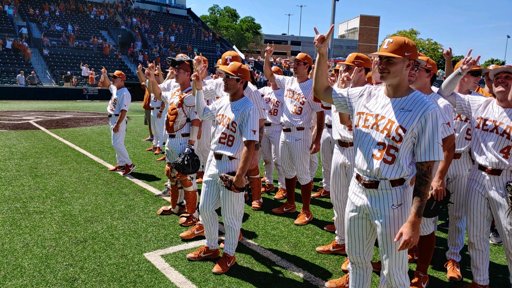 eyes of texas baseball west va Longhorns baseball