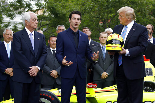 Donald Trump, Roger Penske, Simon Pagenaud