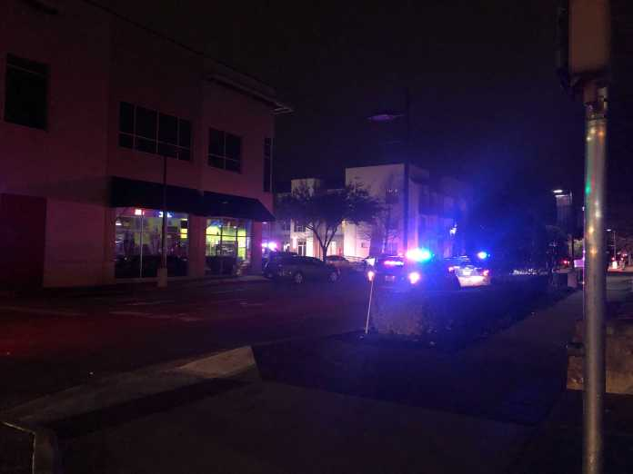 Police say a man was shot and killed at an apartment complex in north Austin on February 28, 2021. (KXAN photo/Frank Martinez)