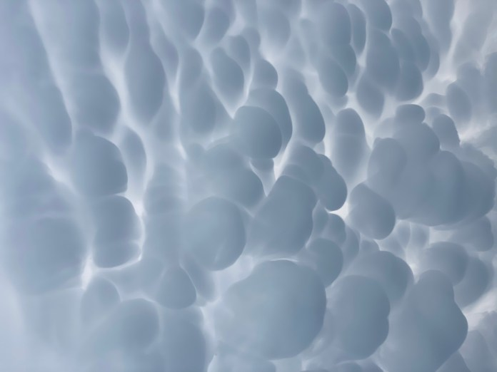 Mammatus clouds spotted overhead in the Luckenbach area of Gillespie County April 28, 2021 (Courtesy: Brady Staedtler)