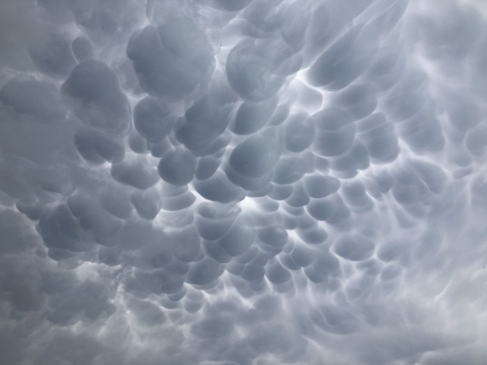 Mammatus clouds in the Fredericksburg area of Gillespie County April 28, 2021 (Courtesy Brent Mueller)
