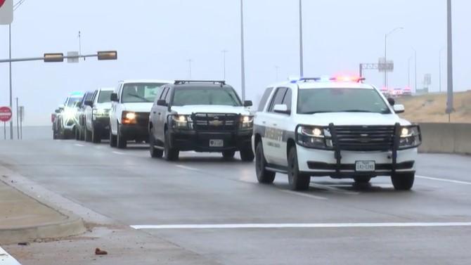 Slain Texas deputy's body returns to San Angelo as community mourns
