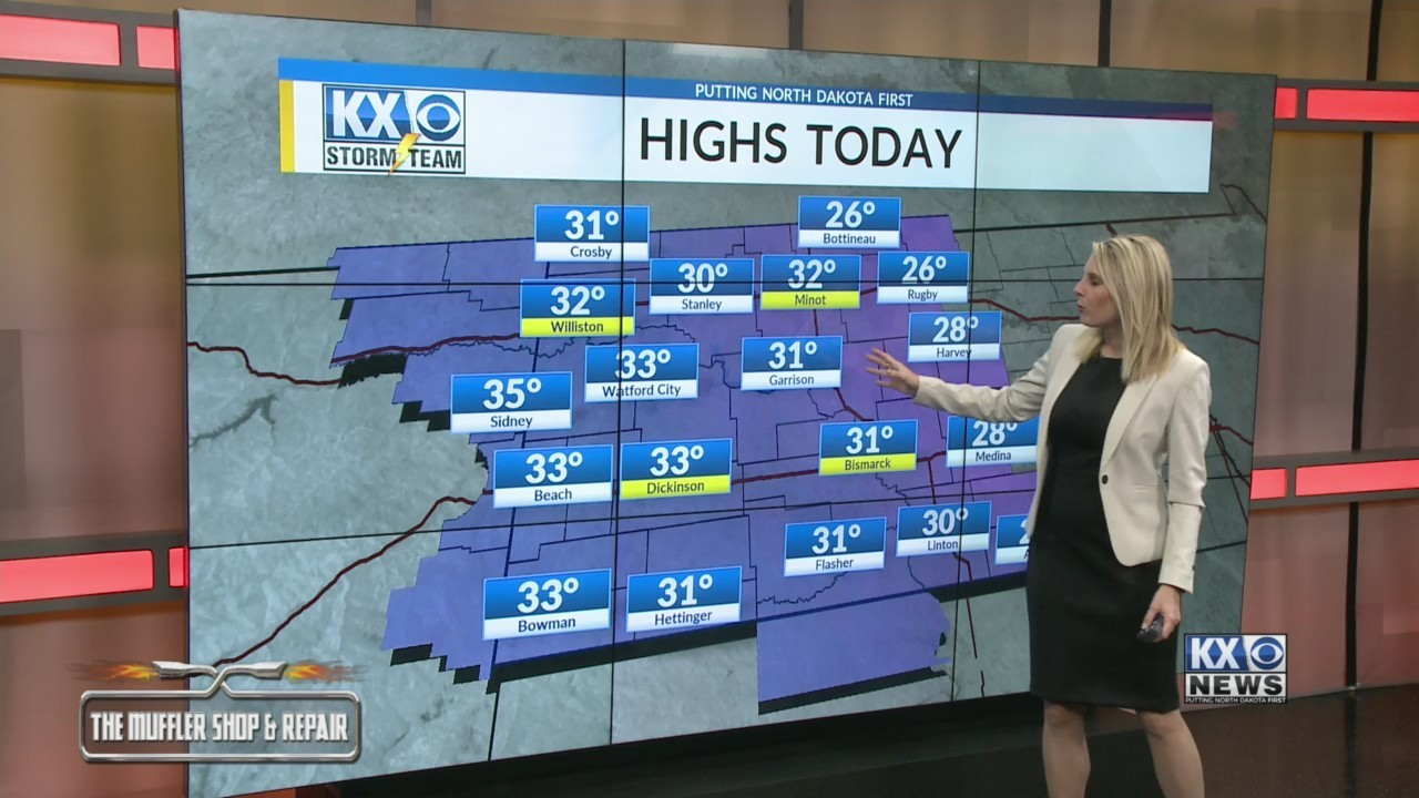 Amber's Friday Morning One Minute Forecast 3/15