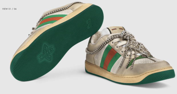 "36e01d02b Gucci is selling ""distressed"" sneakers that look old, dirty. They cost $870"