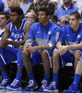 UK Basketball Bench 2013