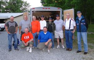 Bob Turley pictured with a disaster relief team serving in Oklahoma in  tornado response