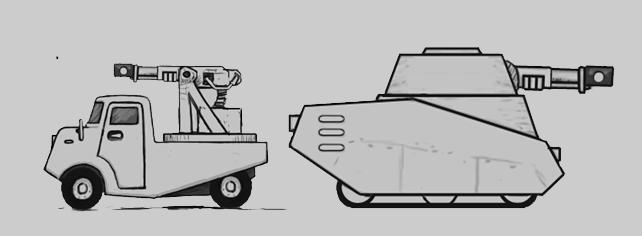 Konvoy Portfolio: Enklave Combat Truck & Ducky Tank
