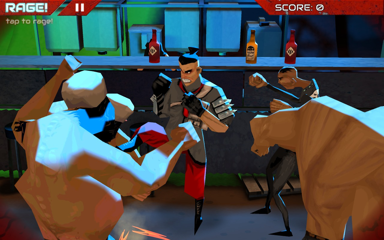 Wasteland Bar Fight: Gerges front kicks a Bully