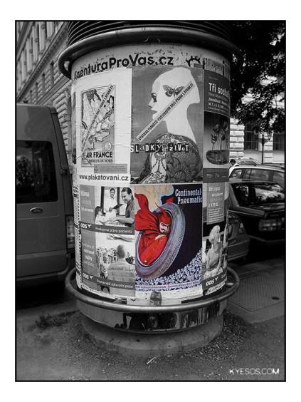Prague affiche pub