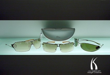 Product photography of Dior glasses by Kyesos