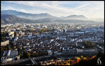 HDR panorama of Grenoble, France by Kyesos