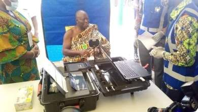 Photo of Otumfuo, wife register for voters ID