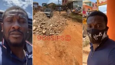 Photo of [VIDEO]: Asamoah Gyan fixes a deplorable road in Kasoa