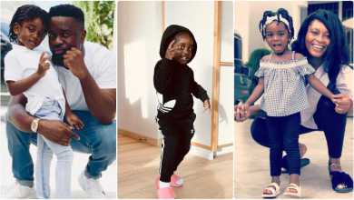 Photo of Sarkodie's 4-year-old daughter, Titi trends on Twitter after debut rap